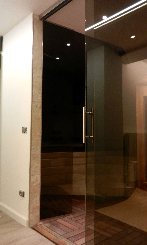 Porta in vetro bronzato