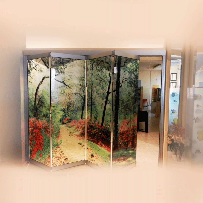 Glass Wall with digital printing