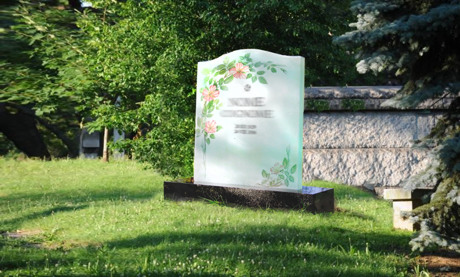 Gravestone with digital printing - Mira Glass