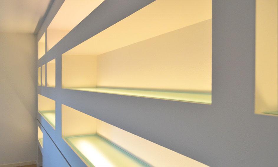 Mensole e teche - Arredamento Mira Glass