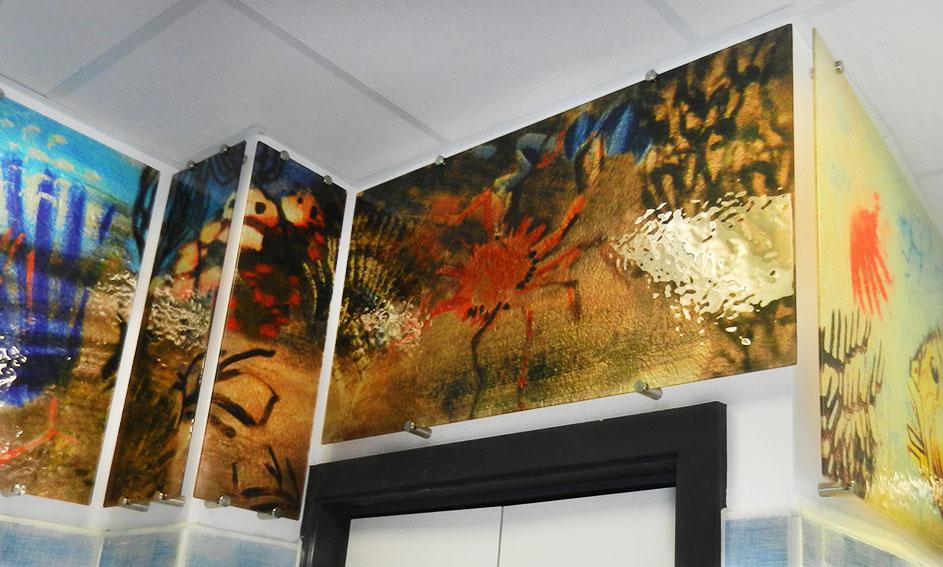 Pannelli in vetro decorato - Arredamento Mira Glass