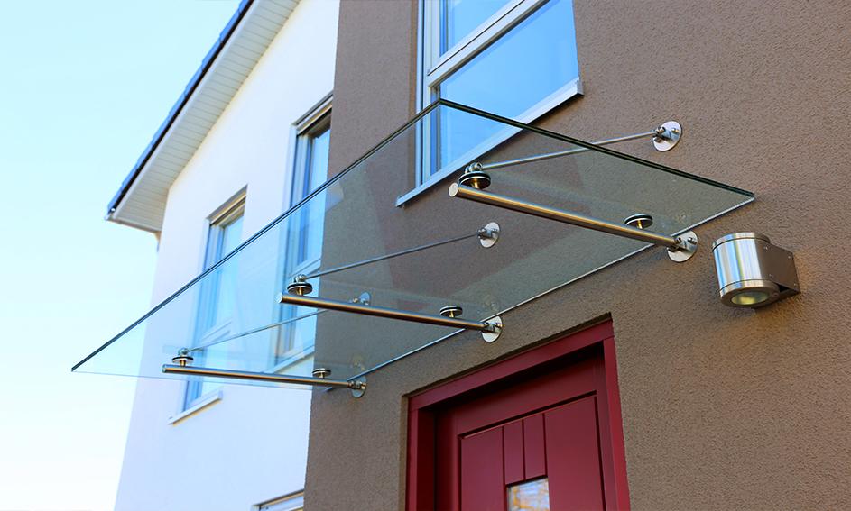 Abris en verre - Bâtiment Mira Glass
