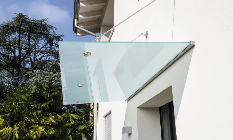 Pensiline in vetro - Edilizia Mira Glass