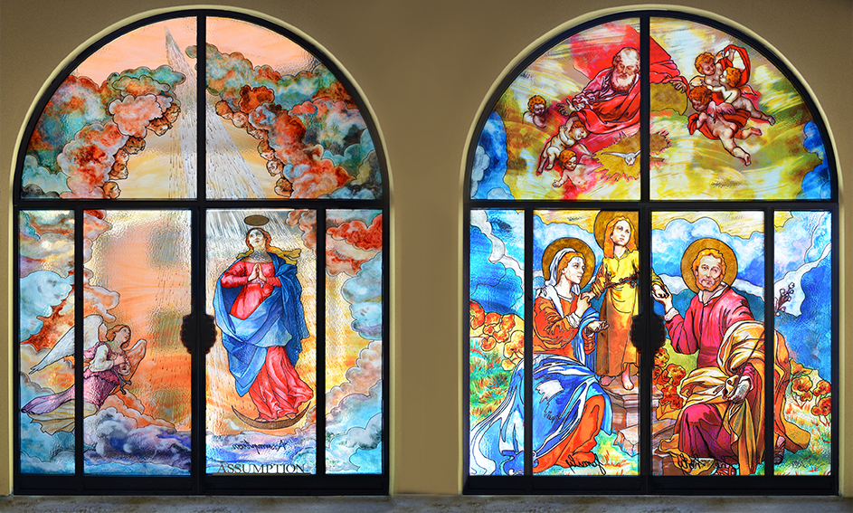 Porte decorate - Religioso Mira Glass