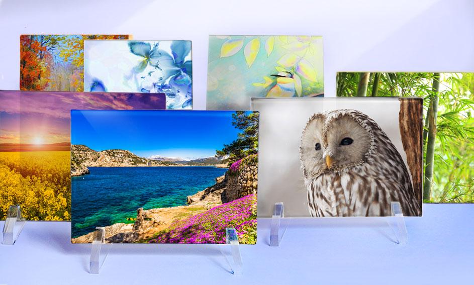 Una raccolta di quadretti con immagini digitali - Mira Glass