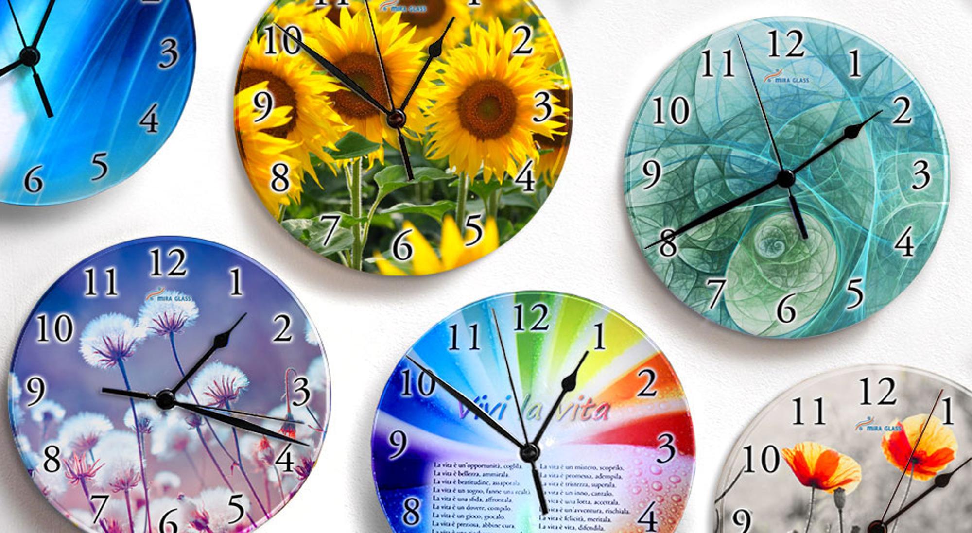 Orologi con  stampa su vetro