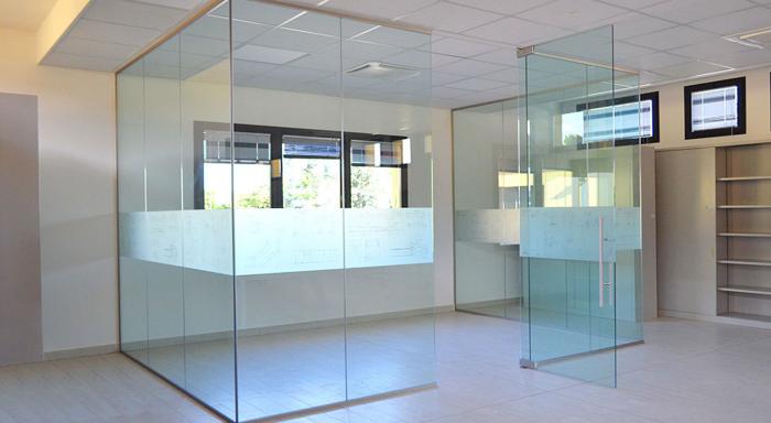 Box Ufficio con pareti in vetro