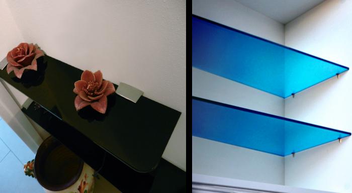 Mensola in vetro colorato