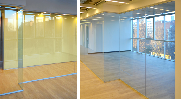 Pareti vetrate con vetro classico