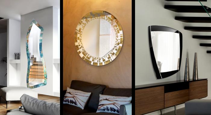 Realizzazioni di specchi decorati Mira Glass