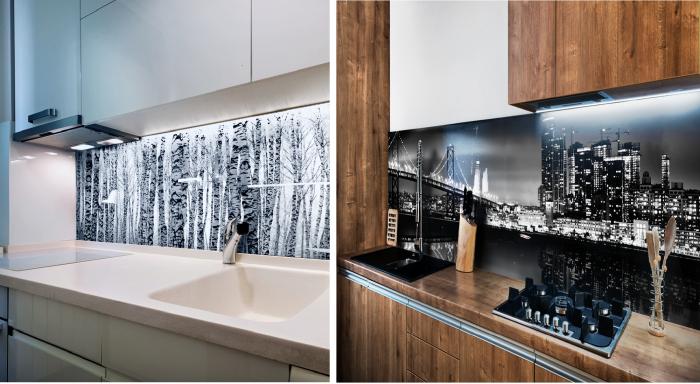Stampa su vetro per parete fornelli  in cucina