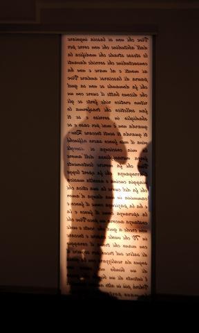 Porta in vetro satinato decorata con stampa digitale