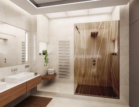 Box doccia bronzato satinato