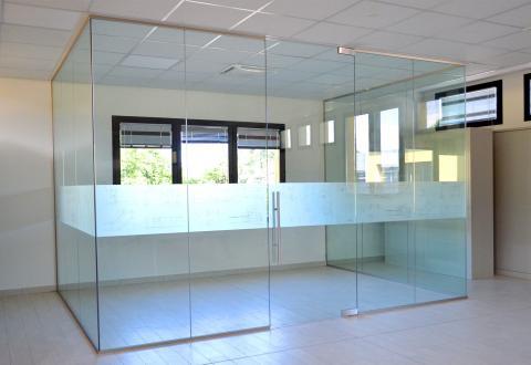 Box in vetro per ufficio