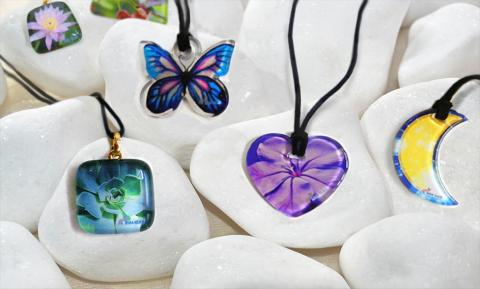 Bedruckte Glasanhänger - Mira Glass