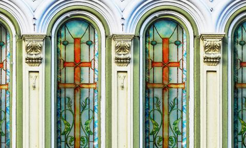 Finestre decorate per chiesa - Mira Glass