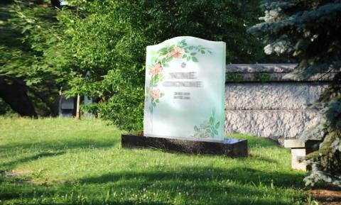 Lapide con stampa su vetro - Funerario Mira Glass