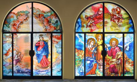 Porte decorate - Religioso Mira Glass