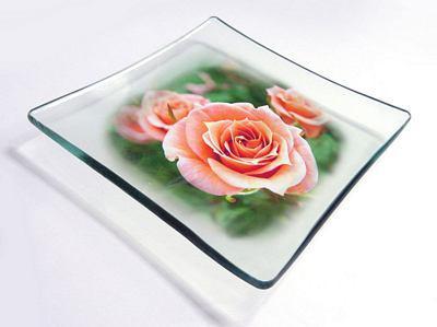 Stampa su vetro per piatto
