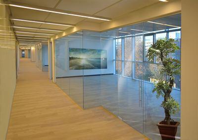 Porte con vetro trasparente classico