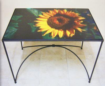 Stampa su vetro per tavolino