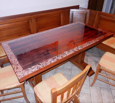 Stampa su vetro per ripiano di tavolo