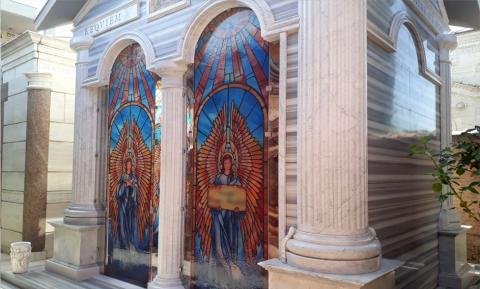 Vetrate decorate - Funerario Mira Glass