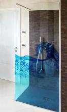 Box doccia con stampa siu vetro