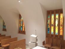 Porta a vetri e finestra  di chiesa