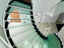 Scale con gradini in vetro