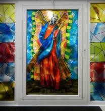 Finestre con stampa su vetro e infissi in PVC