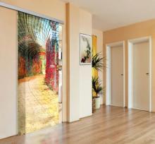 Porta decorata con stampa su vetro