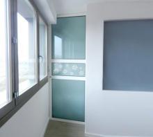 Porta vetro con telaio in alluminio