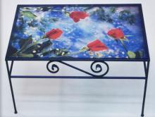 Stampa su vetro per tavolino da arredamento