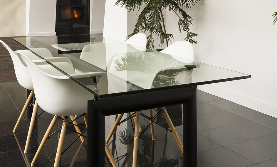 Table en verre - Ameublement Mira Glass