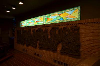 Finestra fissa decorata