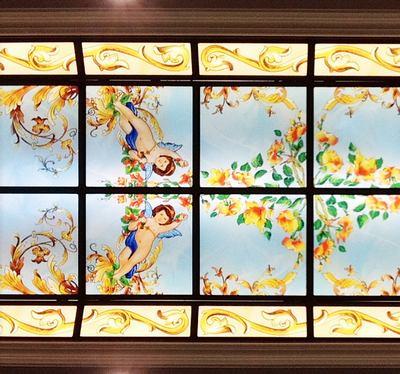 Lucernario decorato con stampa su vetro