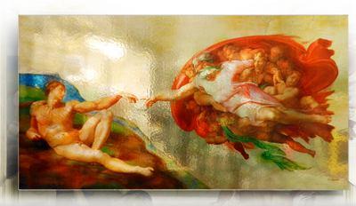 Pannello con stampa di immagine pittorica