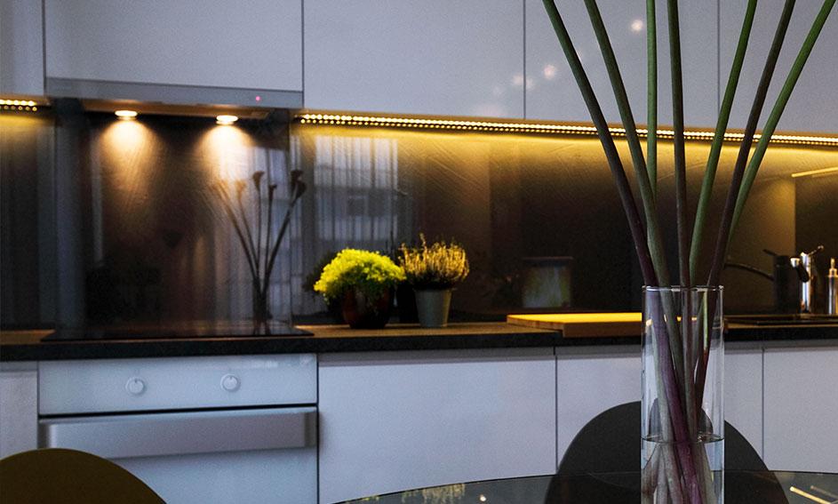 Top cuisine en verre - Ameublement Mira Glass